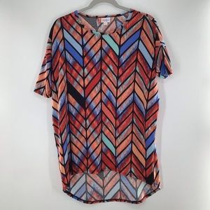 LuLaRoe Simply Comfortable Chevron Blouse NWOT